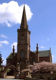 Alyth Parish Church in springtime.