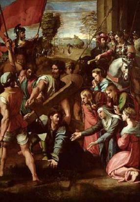 Christ Falling On The Way To Calvary By Raphael