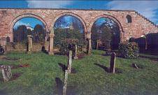 The Arches, remains of the first stone church ever to be built in this district.