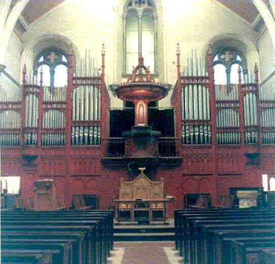 The church interior prior to the major refurbishment in 1975.