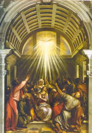 The Pentecost by Titian