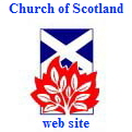 Click here to go to the Church of Scotland website (logo  is St. Andrew's flag with burning bush)